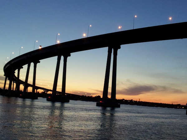 Sunset Cruise Coronado Bridge