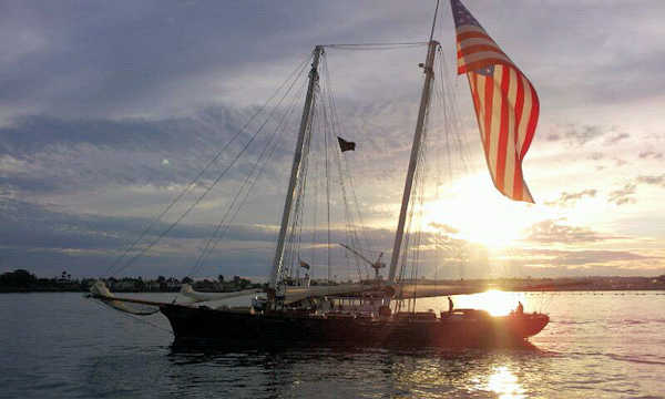 Sunset Cruise Sailboat Flag
